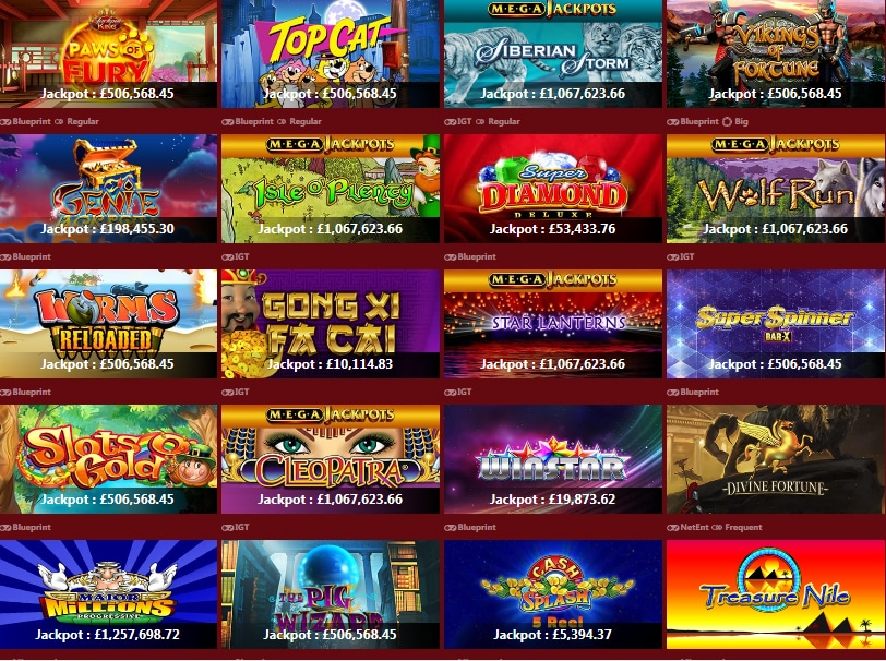 Free Progressive Slot Games